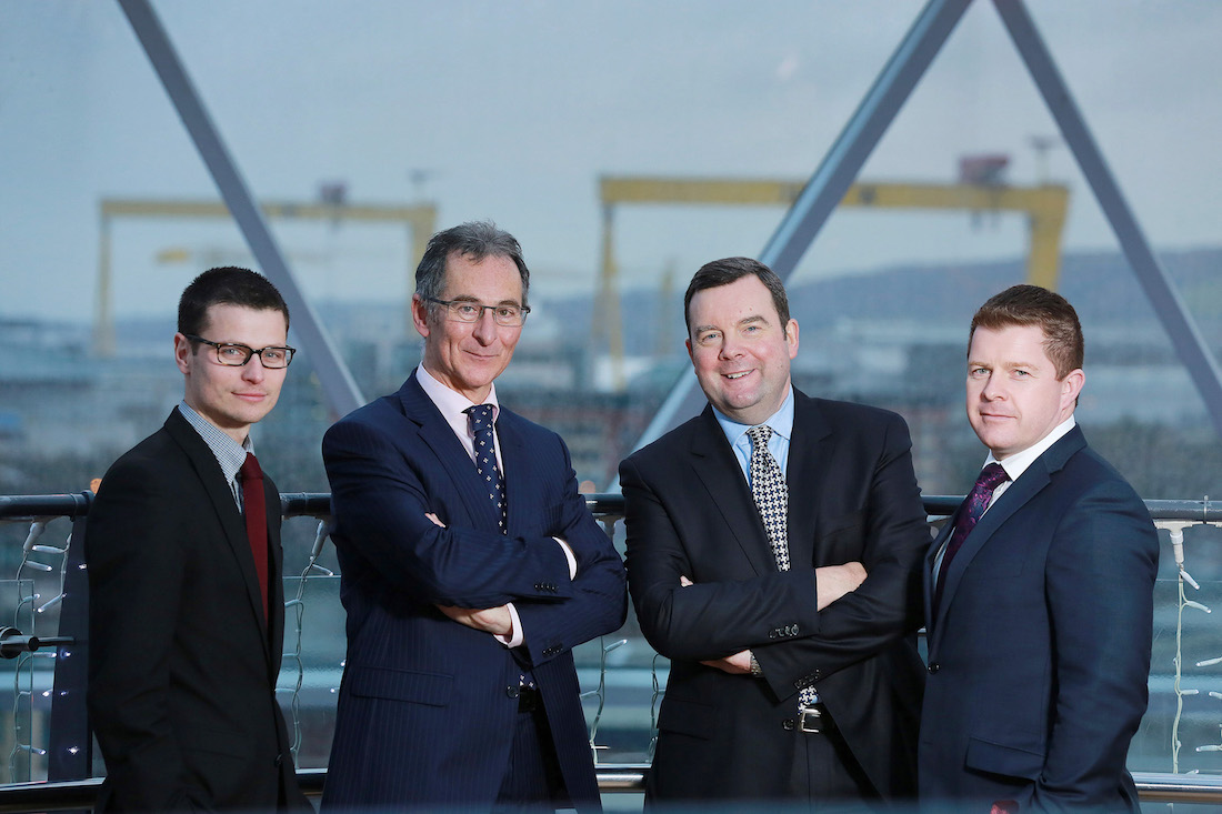Jonathan Burke, Patrick Kelly, Fergus McConnell and Darren Duncan, directors of McConnell Kelly
